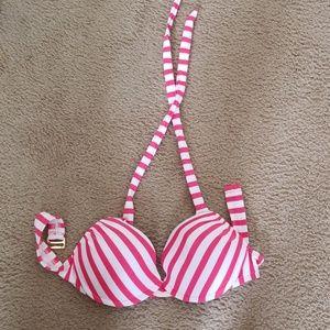 3/$15 Push up striped bikini top